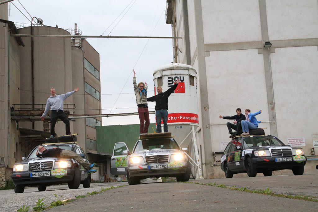 Foto mit Rallyesponsor baumit
